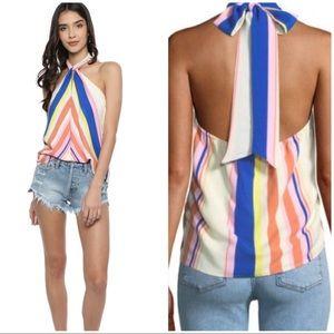 Lush Tops - Rainbow halter top